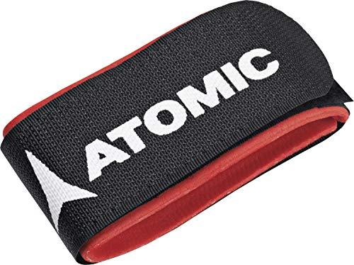 Atomic, Fascette da sci, Confezione da 10 pezzi, Eco Ski Fix, 4,5 x 45,5 cm, Nero/Rosso, AL5049210