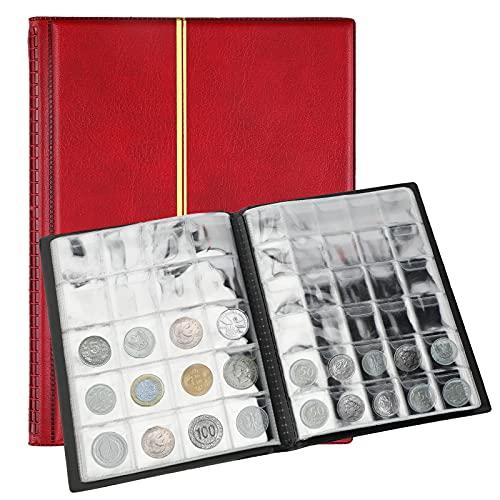 SAVITA Album de Pièces de Monnaie de 250 Poches Livre de Collection de...