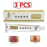 3 Pack Chinese Herbal Hemorrhoids Cream—Dictamni Antibacterial Hemorrhoids Ointment Cream for Hemmoroid Treatment Anus Prolapse Anal Fissure