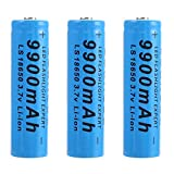 Piles Rechargeables Batterie 18650 9900mAh 3.7V Li-i on Batterie 1200Cycles...