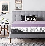LUCID 4 Inch Lavender Infused Memory Foam Mattress Topper - Ventilated Design - Full Size