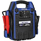BILT HARD Jump Starter with Air Compressor, 900 Peak Amps Portable Power Pack with Work Light, USB Port, and DC Outlet
