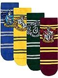 Character Harry Potter Hogwarts - Calcetines para Niños, Multicolor, Paquete de 4, Talla 37-40 cm (4-6.5 US)
