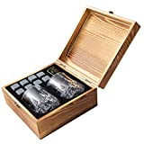 Whiskey Stones Gift Set - 8 Natural Granite...
