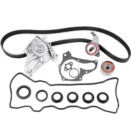 ECCPP Timing Belt Water Pump Kit W/Valve Cover Gasket Fits 1987-2001 Fit for TOYOTA Camry Celica Solara RAV4 MR2 2.0L 2.2L 3SFE 5SFE
