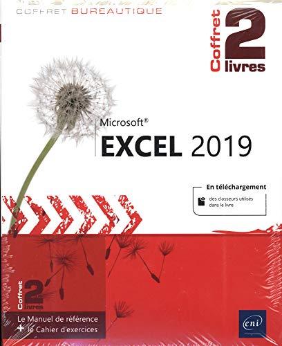 Excel 2019 - Coffret de 2 livres : Le Manuel de référence + le Cahier d'exercices