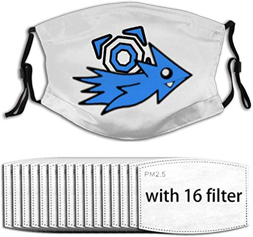 My Gd Icons Video Game Face Mask with 16 Replaceable Air Filters Reusable Washable Adjustable...