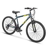 Huffy Hardtail Mountain Bike, Summit Ridge 24-26 inch 21-Speed, Lightweight, Dark Blue