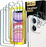 iVoler Lot de 4 Verre Trempé pour iPhone XR et iPhone 11 avec Aide au...