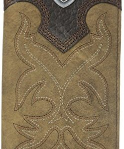 Ariat Men's Boot-Embroidery Rodeo Brown Wallet