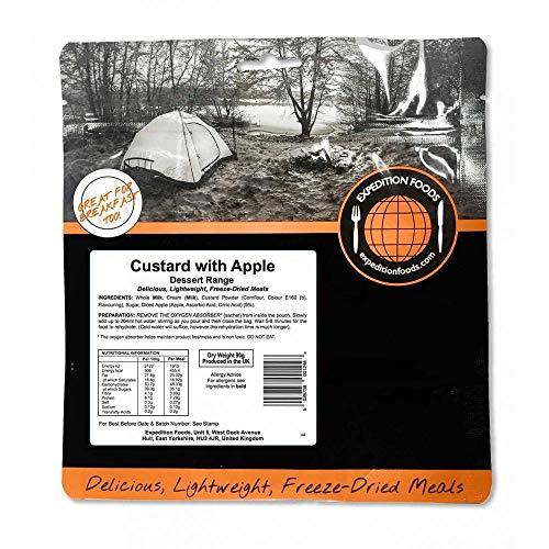 Expedition Foods Custard with Apple Gama de postres, Unisex, Negro