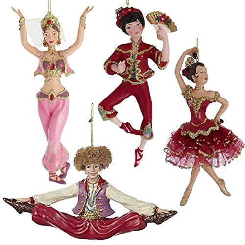 Kurt Adler Resin International Dancer Ornament Set Of 4