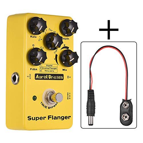 Muslady Super Flanger Guitar Effect Pedal 3 Flanger Modes Aluminum Alloy Shell True Bypass