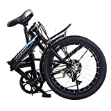 Womens Bike Folding Mini Bike Leisure 20in 7 Speed ​​City Bicycle Urban Commuter