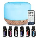 Humidificador Ultrasònico Difusor 450ML Ambientador Aromaterapia Silencioso Apagado Automtico Luces LED 7 Colores Aceites Esenciales Dormitorio Bebe Yoga Oficina Spa Libre de BPA