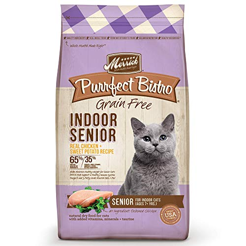 Merrick Purrfect Bistro Grain Free Indoor Senior Dry Cat Food, 7 Lbs.