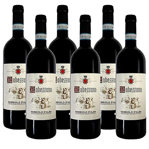Rabezzana - Nebbiolo d'Alba DOC - 6 Bottiglie da 75 cl - Vino Rosso Elegante e Armonioso - 100% Uve Nebbiolo - Piemonte (6)