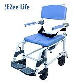 Attendant Shower Transport Chair Bath Toilet Commode Aluminum Adjustable by EZee Life