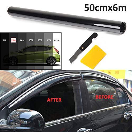 BALLSHOP Tönungsfolie 15% Scheibenfolie Sonnenschutzfolie Fensterfolie Autofolie 50cmx6m