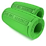 Alpha Grips 2.0 - Extreme Arm Blaster - Best Dumbbell and Barbell Thick Bar Adapter (Green)