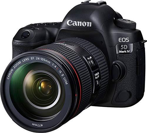 Canon EOS 5D Mark IV 30.4 MP Digital SLR Camera (Black) + EF 24-105mm is II USM Lens Kit 8