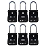 SimbaLux Combo Realtor Lockbox Quality 4 Digit Numeric Combination Real Estate Lock Box, 6-Pack