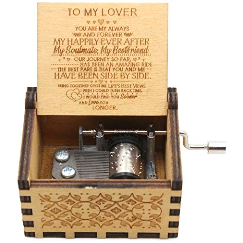 Buildinest You are My Sunshine Music Box - Laser Engraved Music Box - Gifts for Lover, Boyfriend, Girlfriend, Husband,Wife