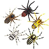 Soft Phantom Spider Bait, Bass Fishing Lure, Lifelike Skin Pattern, Bionic Weedless Strong Plastic Body, Mustad Hooks, for Bass Snakehead Pike Trout, 2.8in/ 0.23oz, 5 pcs (A (2.8in, 0.23oz))