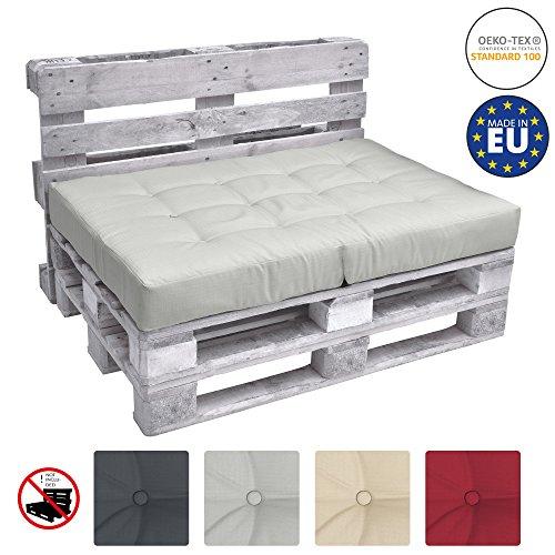 Beautissu Cuscino Seduta Divano Pallet Eco Elements 120x80x15cm - per divani con bancali di Legno -...