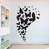Tianpengyuanshuai Hermosa Mariposa Etiqueta de la Pared Animal diseño del hogar Aula Arte Vinilo Adhesivo de Pared extraíble 85X57cm