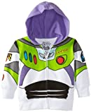 Disney Little Boys' Buzz Lightyear Hoody Toddler, White, 4T