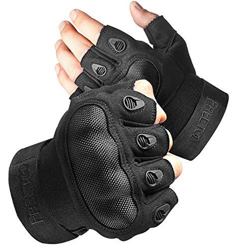 FREETOO Fingerless Tactical Gloves for Men...