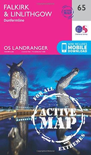 Landranger Active (65) Falkirk & Linlithgow, Dunfermline (OS Landranger Active Map)