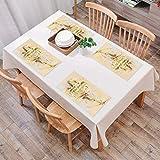 Set de Table Antidérapant Lavable Résiste à la Chaleur Rectangulaire Sets de Table pour...