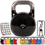 POWRX - Kettlebell Professionale 4-28 kg + PDF Workout (4 kg)