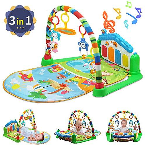 WYSWYG Baby Play Mat Gioca Piano Gym Activity Centre con Musica, luci, Giocattoli per Neonati e...