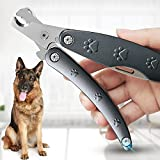 Best Dog Nail Trimmer for Anxiety Sensitive Dog, Quiet Sharpest Smoothest Dog Nail Clippers for X Large Medium Small Size Breed, Heavy Duty Metal Dog Nail Grinder for