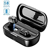 True Wireless Earbuds, GUSGU Bluetooth 5.0 Wireless Earbuds with Charging Case 120H Playtime Stereo Bluetooth Earbuds with Mic Waterproof in Ear Cordless Earbuds for Running (2200mAh)