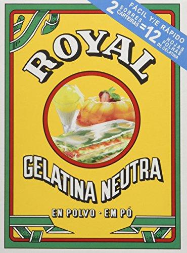 Royal - Gelatina Sin Sabor - pack de 4