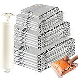 Eono Essentials - Lot de 20Sacs de Compression de Haute qualité avec Pompe Manuelle, 2Sacs de...