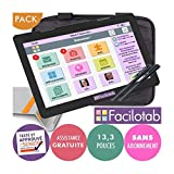 FACILOTAB Pack XXL 13,3 Pouces WiFi - 64 Go - Android 6 + Support + Sacoche + 2...