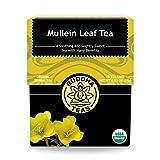 Buddha Teas Organic Mullein Leaf Tea | 18 Tea Bags | Made in the US | No Caffeine