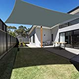 Ankuka Waterproof Sun Shade Sails Canopy Rectangle UV Block for Outdoor Patio and Garden, Yard Activities(8'X10', Grey)
