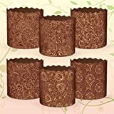 6 x 8 oz Easter Bread parchment baking paper Molds 'Italy'