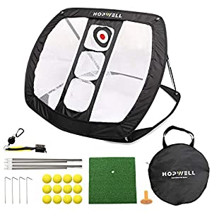 PRESSURE-FREE ENVIRONMENT: A golf practice net gives you a pressure-free environment for you to perfect your game and be ready for those tense situations on the back nine A GREAT PACKAGE DEAL: The package comes with a golf chipping net, a hitting mat...
