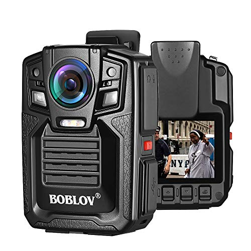BOBLOV HD66 Body Worn Camera 32GB IP67 Waterproof 1296P Wearable Camera Audio & Video Recorder 170 Wide Angle IR Night Vision with 360 Rotation Clip