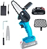 Mini Chainsaw, Handheld Cordless Electric Chainsaw with 1Pcs Batteries and Chain, Portable Electric Chainsaw for bushes and trees (pruning of branches)