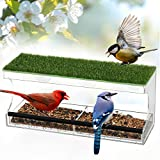 Window Bird Feeders - Large Bird House for Outside, Outdoor Clear Acrylic Birdfeeders Vent Dry for...