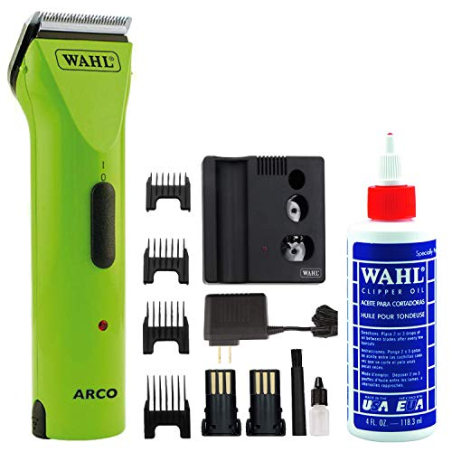 Wahl ARCO Cordless Dog and Pet Clipper Kit - Lime - with Bonus Clipper Oil