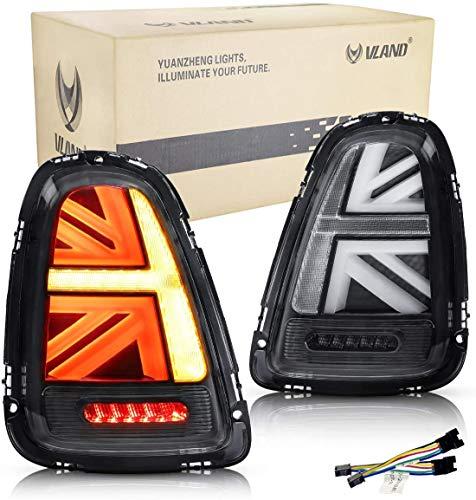 VLAND LED Fanale posteriore compatibile per Mini Cooper R56 R57 R58 R59 2007-2013 Luci posteriori ,Coppia (lato guidatore e passeggero)